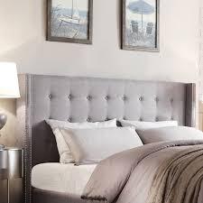 king head headboard light grey white gray fabr rustic linen skirt bedding dark bedroom sets wood quilts frame philippe tufted quilt set velvet upholstered