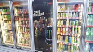 Monster Energy Drink Vending Machine Mesmerizing Conor McGregor Face Of Monster In Malaysia Mini Me Insights