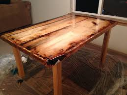 rustic dining table diy. Picture Of Epoxy Finish Rustic Dining Table Diy L