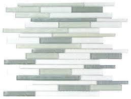 blue gray thin linear glass mosaic wall tile sample