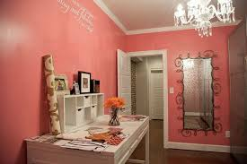 feminine home office. Feminine Home Office Pretty Decoration For Women Workers - Simple Pink With Wallpaper