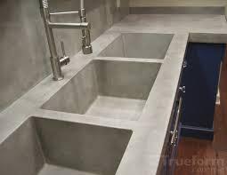 triple concrete sink