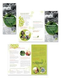 Lawn Care Brochure Lawn Care Services Tri Fold Brochure Template Getty Layouts