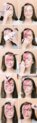 diy david bowie makeup tutorial camille styles