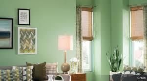 green postcard room scene