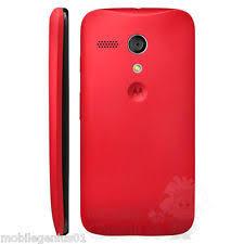 motorola phone cases. genuine battery cover for motorola moto g - red brand new retail package phone cases
