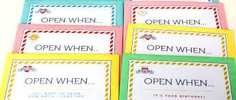 Open When Letters Template Rome Fontanacountryinn Com