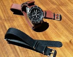 marathon 22mm leather nato strap band tan smooth aniline top grade new