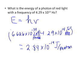 4 what is the energy of a photon