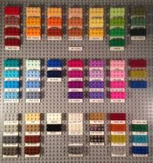Lego Brick Colour Chart 105 Best Lego Colours Images In 2019 Lego Colours Lego
