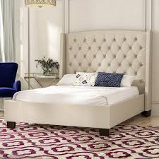 tufted upholstered bed. Majestic Tufted Upholstered Panel Bed