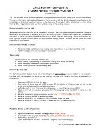 Nursing Student Cover Letter For Internship Sample Of Luxury Nurse