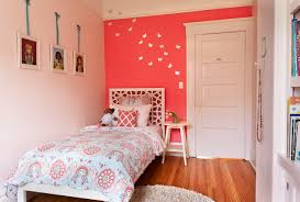 pink wall paintWhite Morocco Headboard  Transitional  girls room  EM Design