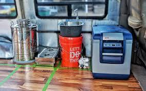diy van kitchen layout