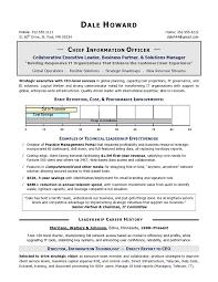 Cio Resume Example Free Resume Templates 2018