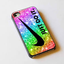 iphone 5s gold case for girls. just do it nike rainbow sparkle glitter printed for iphone 5 case or iphone 5s gold girls