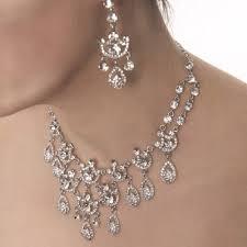 clear crystal necklace 9 ornate chandelier teardrop swarovski clear crystals