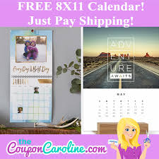 8x11 Calendar Free 8x11 Personalized Calendar Just Pay Shipping The