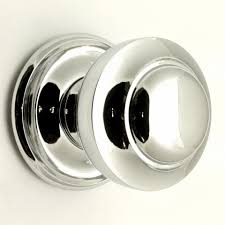 Traditional Victorian Style Centre Door Knob - Polished Chrome