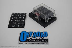 narva 6 way standard ats blade fuse block off road downunder narva 6 way standard ats blade fuse block