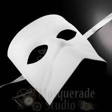 mens blank diy bauta victorian costume theater masquerade mask white
