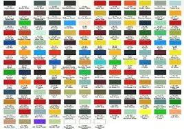 Automotive Paint Color Chart Timeless Car Paint Chart Color Chart Automotive Paint Color