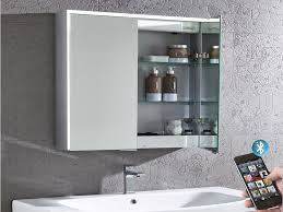 pose Illuminated Bluetooth Bathroom Mirror Cabinet Roper