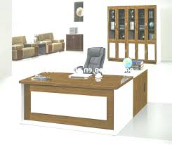 wooden office table. Curved Office Desk Wooden Set Table With Side Regarding