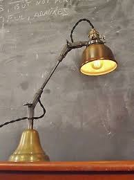 industrial desk lamp. Vintage Industrial Desk Lamp - Machine Age Task Light Cast Iron Steampunk