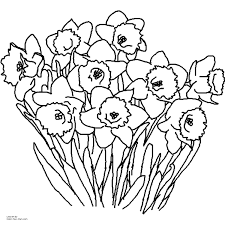 Spring Flowers Coloring Pages Pdf Printable Coloring Page For Kids