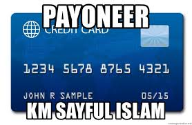 fake credit card payoneer km sayful