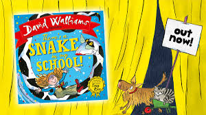 david walliams new children s picture book there s a snake in my is out now fun kids the uk s children s radio station