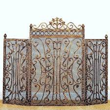 fireplace screens and doors 38221 fleur de lis regal burnished antique gold fireplace screen french