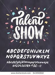 talent show flyer template free talent show vector chalkboard sign template stock vector 643050682