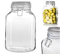 details about 3l vintage glass storage jar w clip top lid pasta pickles rice dry foods 3000ml