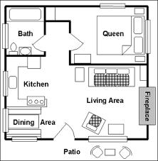 Elegant One Bedroom Cottage Plans At Luxury Room Cabin Floor View Plan Main