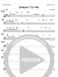 Todd Chart Speak To Me Rhythm Acoustic Guitar Chart North Point Music