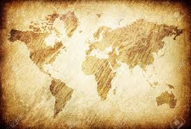 Map Of The World Background Grunge Rubbed Map Of The World Background Stock Photo Picture And