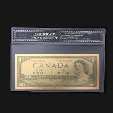 Best Price For <b>Color Canada Banknote 1</b> Dollar Gold Banknotes in ...