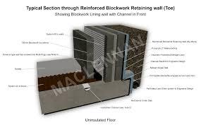basement drainage design. Unique Basement Base Of Blockwork Retaining Wall Intended Basement Drainage Design A