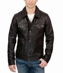 mens lucky brand leather trucker jacket usjacket695on