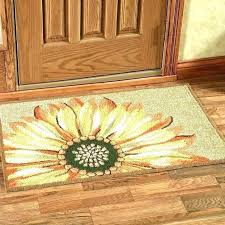 round sunflower area rugs rug large kitchen decorating appealing latex backed orange en yellow for nursery holiday l