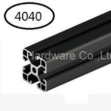 Black <b>Aluminum</b> Profile <b>Aluminum</b> Extrusion Profile <b>4040</b> 40*40 ...