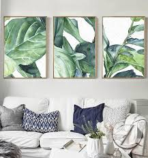 new summer green leaves wall art set canvas art palm tree leaves printing for home livingroom bedroom wall decoration on leaf wall art set with online shop new summer green leaves wall art set canvas art palm