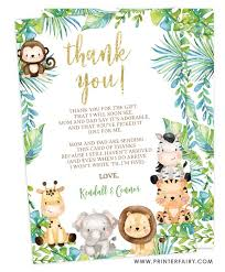 We did not find results for: Safari Baby Shower Thank You Cards Printerfairy