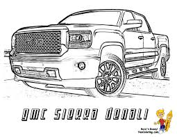 pickup truck coloring pages. Plain Pickup Denali Truck Pickup Trucks Coloring Pages To Truck Coloring Pages A