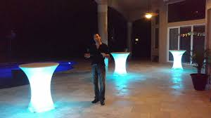 Lighted Cocktail Tables For Rent Led Light Up Cocktail Tables South Florida Lighting Event Designs