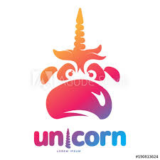 Funny Face Templates Funny Unicorn Face Graphic Logo Template Full Color Catroon