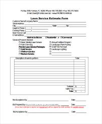 Service Estimate Templates Print Paper Templates
