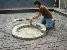 building a stone fire pit